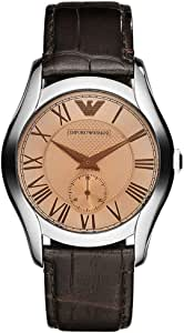 Emporio Armani Classic Women'S Brown Dial Leather Band Watch Ar1709, Japanese Quartz, Analog