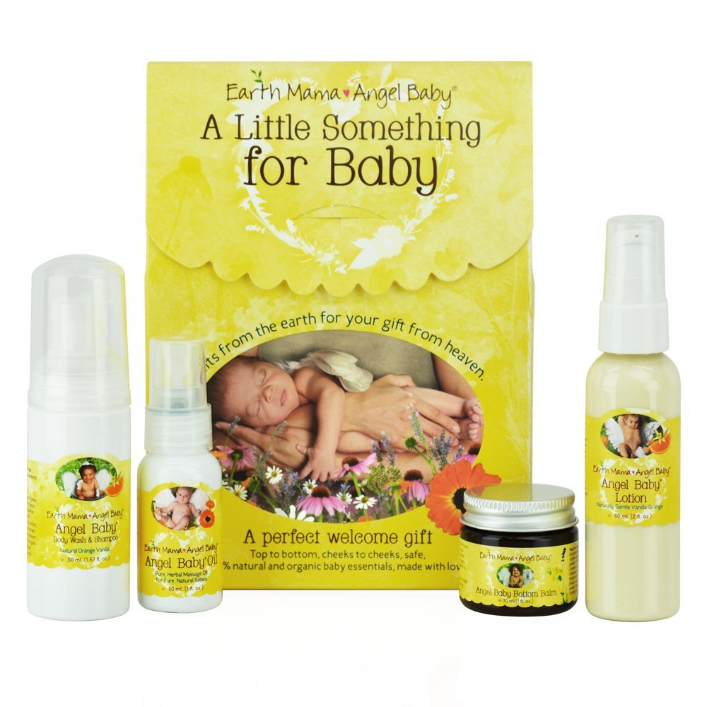 Earth Mama A Little Something For Baby Gift Set, 4 Piece Earth Mama Angel Baby EMA600