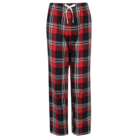 876021f0e7a02 Skinnifit Womens/Ladies Tartan Lounge Pants: Amazon.co.uk: Clothing