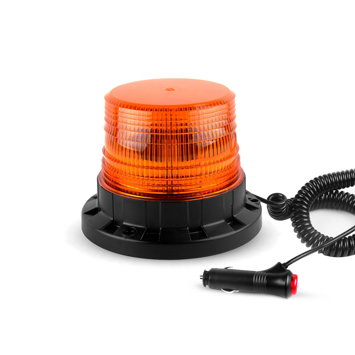 GPPOWER LED Emergency Car Lights, Strobe Flashing Warning Beacon Light With Magnetic Mount 9-85V GUANGPAI AUTO