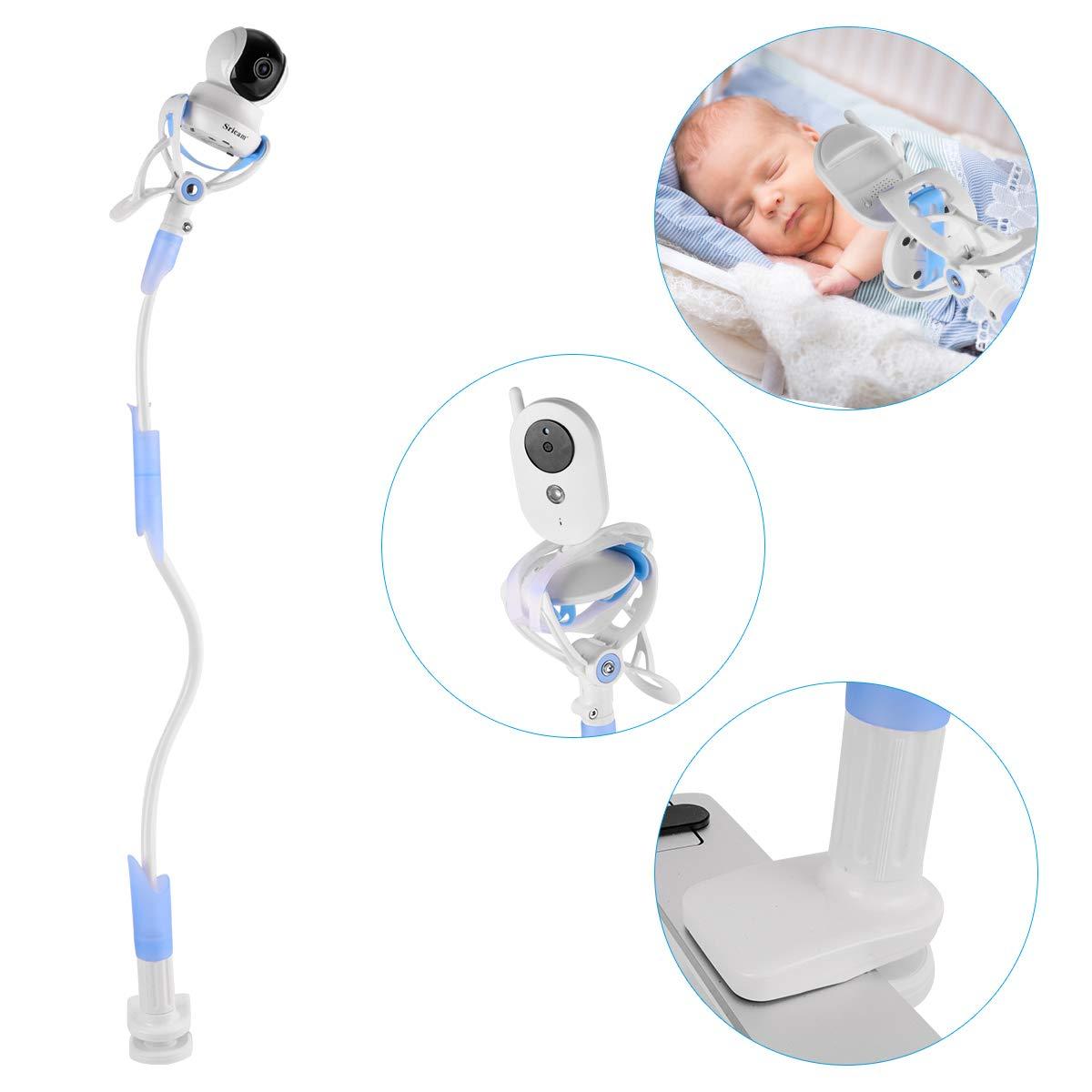 Supporto Universale Baby Monitor, Lega di Alluminio Flessibile 360° 85cm Supporto Baby Monitor per il Supporto Universale Della Scuola Materna Compatibile con Tutti i Telefoni e i Baby Monitor Surfnsave