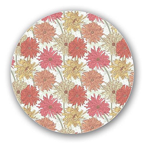 Uneekee Chrysanthemum Bloom Lazy Susan: Large, pure birch wooden Turntable Kitchen Storage by uneekee