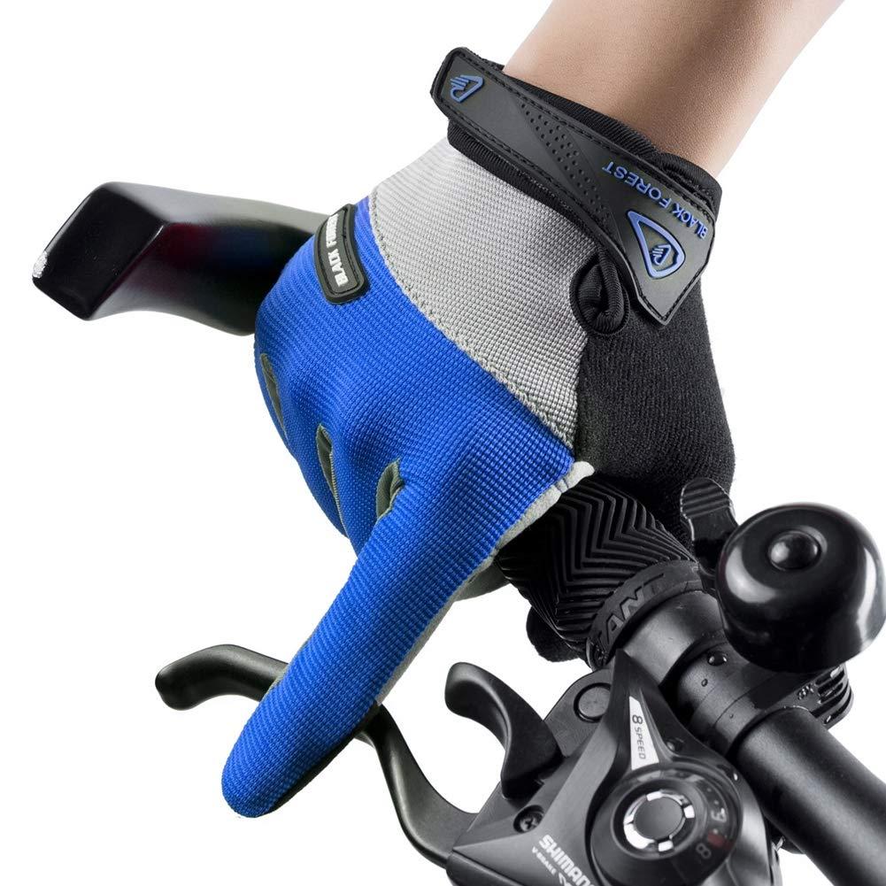 Transpirable Antideslizante Prevenci/ón De Cortes Guantes para Bicicleta MTB Crossfit Entrenamientos Mujer Y Hombre Azul 1 Par,M Guantes Ciclismo Guantes Bici