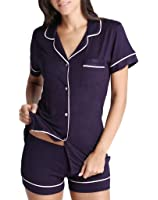 Vilania Women Pajamas Sets Soft Short-Sleeve with Shorts Nighty Sleepwear S-2XL