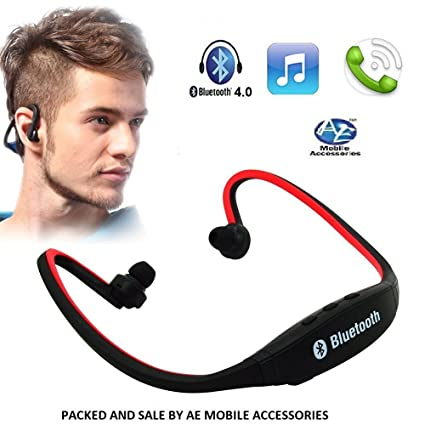 AE MOBILE ACCESSORIES BS19 / BS19C Wireless Bluetooth On-ear Sports Headset  (Multicolour)