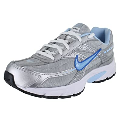 d3396037bc21 Image Unavailable. Image not available for. Color  Nike Women s Initiator  Metallic Silver Ice Blue-White Ankle-High Running Shoe -