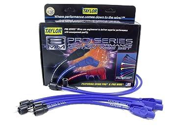 Taylor Cable 74670 Spiro-Pro - Juego de cables para bujía, color azul: Amazon.es: Coche y moto