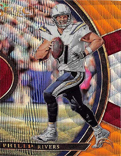 Philip Rivers Football Card (Los Angeles Chargers) 2017 Panini Prizm Select Concourse Tri Color Refractor #55 LE 154/199