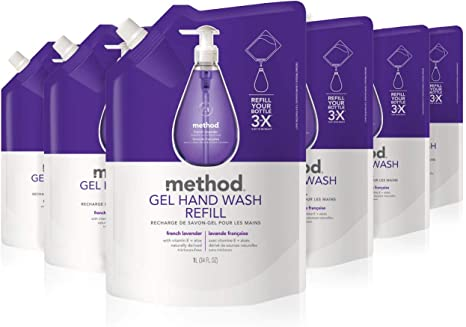 2 Pack Method Gel Hand Soap Refill French Lavender 34 Ounce