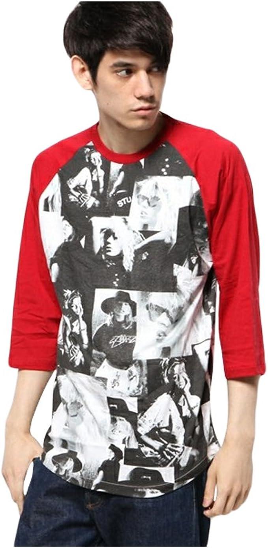 Stussy Laura Love - Camiseta de béisbol para Hombre (Manga 3/4) - Rojo - Large: Amazon.es: Ropa y accesorios