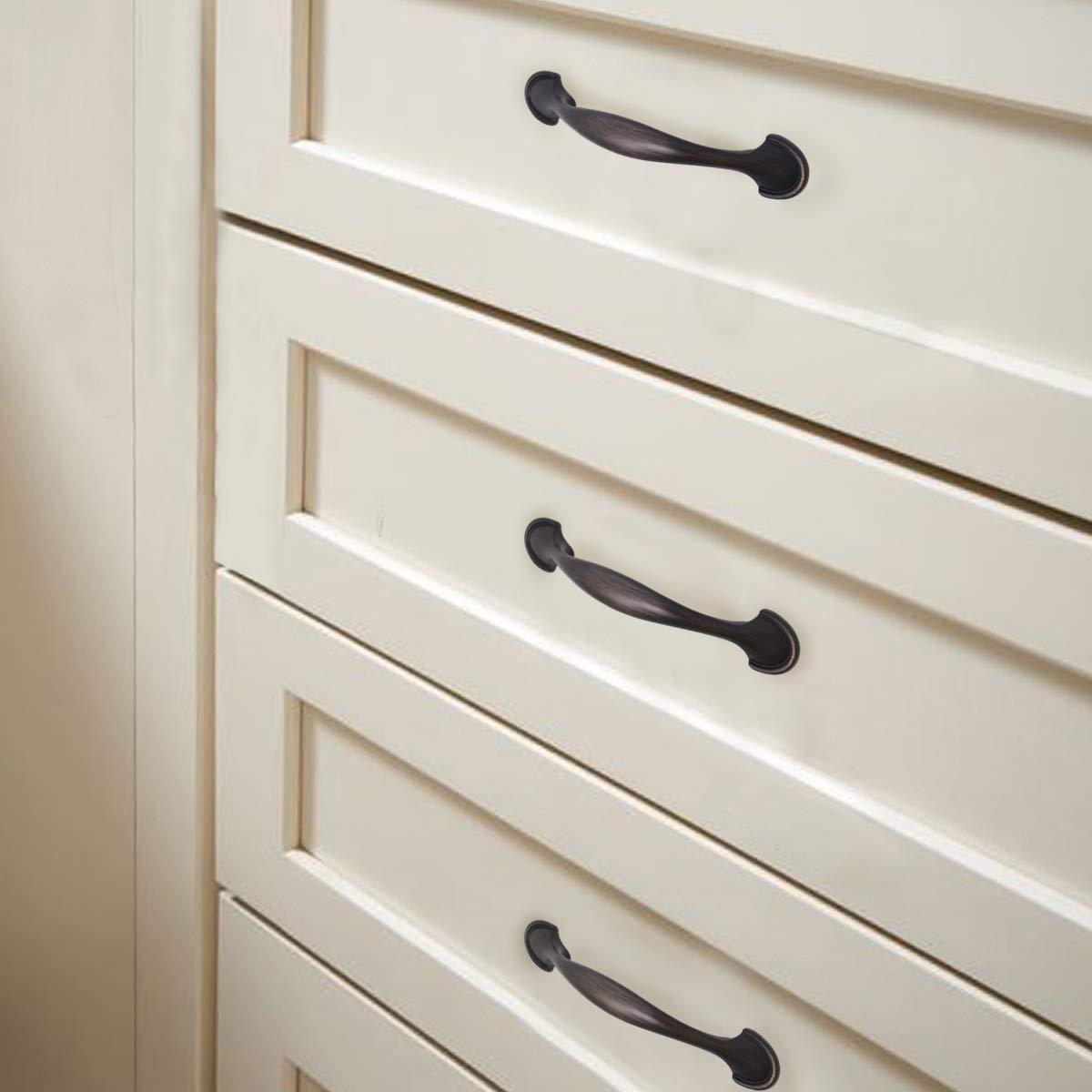 Probrico Cabinet Handles 3 Inch,Brushed Nickel Kitchen Cabinet Pulls,Dresser Pulls Closet Door Handles,Hardware for Cupboard Wardrobe Chest of Drawers,Euro Style 20 Pack