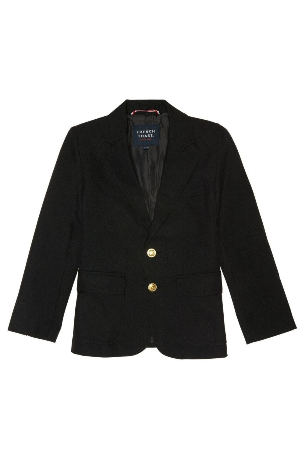 French Toast Little Boys' School Blazer, Black, 7