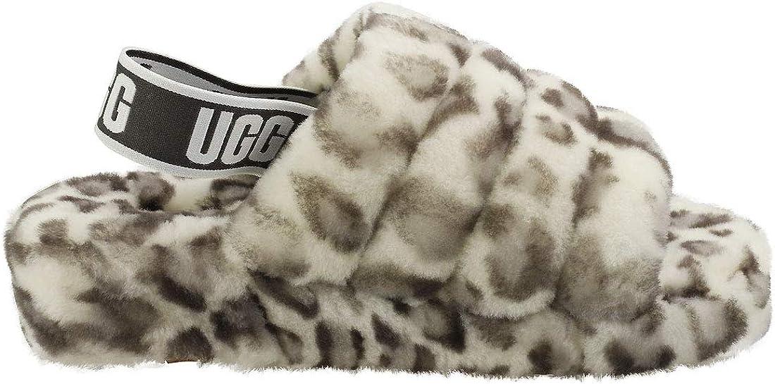 UGG Womens Fluff Yeah Slide Slipper White