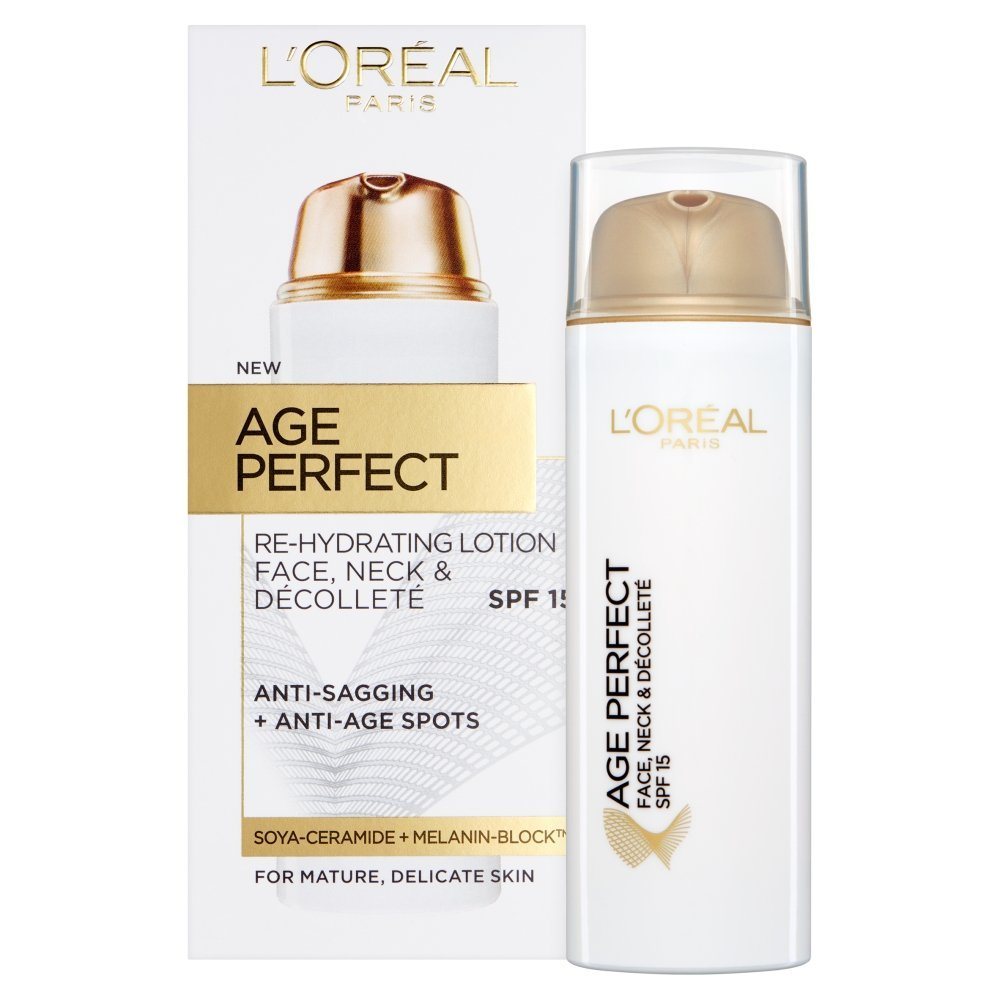 L'Oreal Paris Age Perfect Re-Hydrating Lotion Face, Neck & Decollete SPF15 L'Oreal 3600523179299