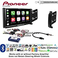 Volunteer Audio Pioneer AVH-W4400NEX Double Din Radio Install Kit with Wireless Apple CarPlay, Android Auto, Bluetooth Fits 2011-2013 Dodge Durango, Jeep Grand Cherokee
