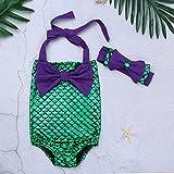 iEFiEL Kids Girls One-Piece Mermaid Swimsuit