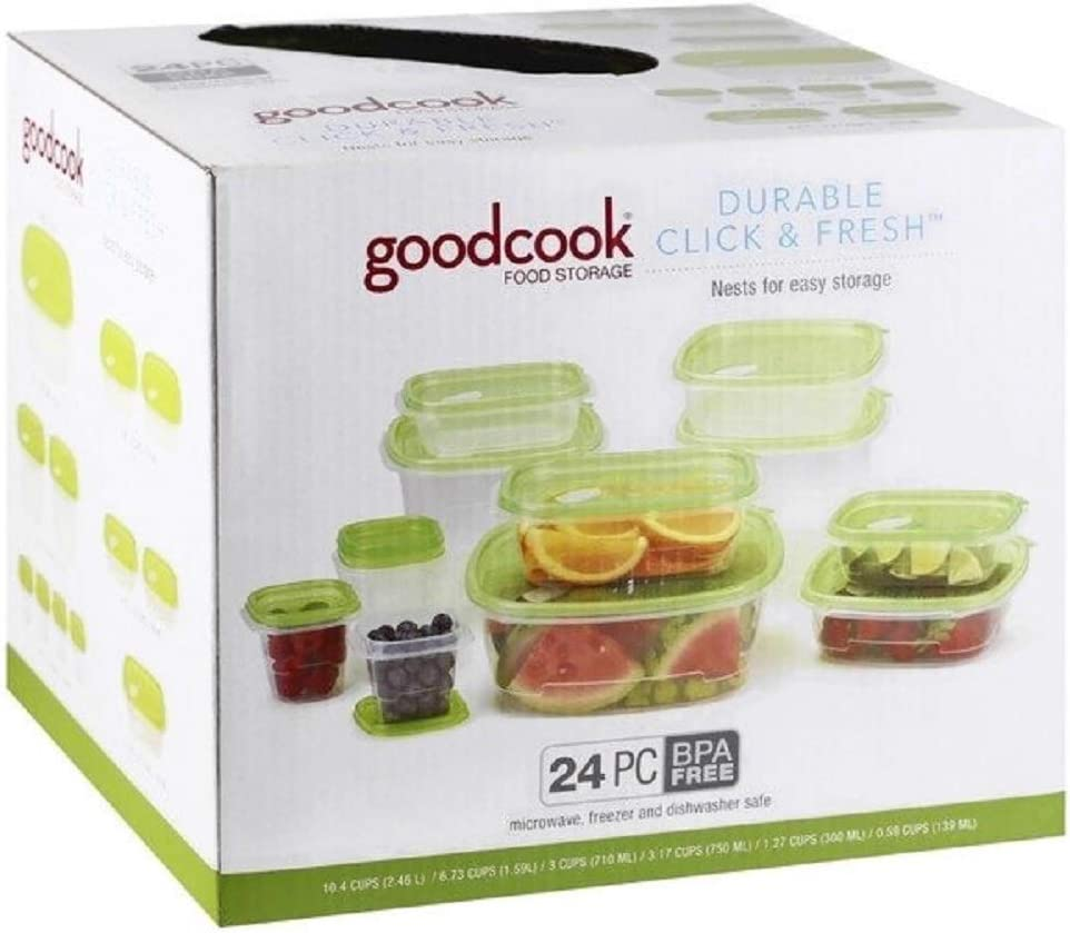 Goodcook Click & Fresh Containers, Clear