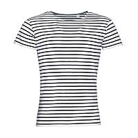 SOLS Miles - T-shirt rayé à manches courtes - Homme