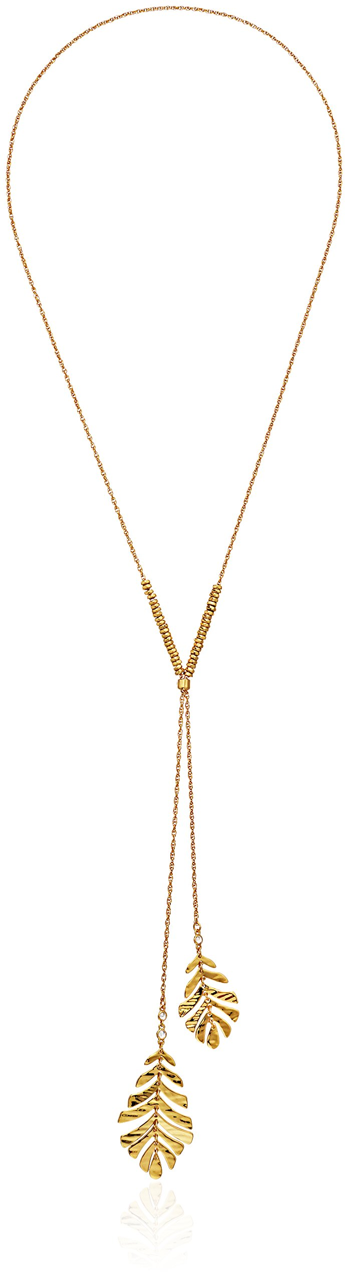 Kate Spade New York Womens Lariat Pendant Necklace, Clear/Gold