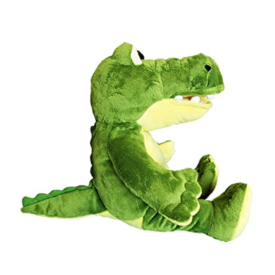 Cuddly Soft 16 inch Stuffed Yellow & Green Gator - We Stuff 'em...You Love 'em!: Toys & Games