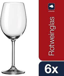 Leonardo 35241 Daily - Copas de Vino Tinto (6 Unidades): Amazon.es: Hogar