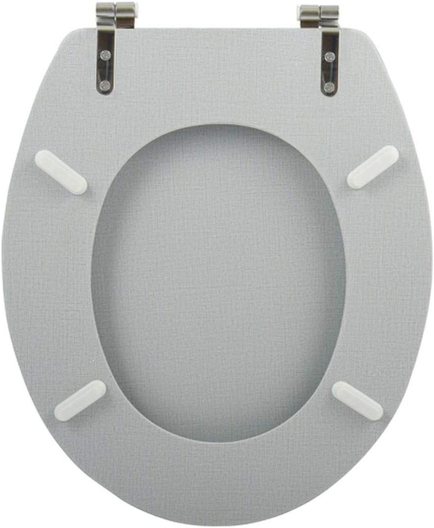 """MSV WC Sitz Toilettendeckel MDF Holzkern /""""Sunset Sonnenuntergang/"""" Scharniere aus Edelstahl hochwertige und stabile Qualit/ät"""