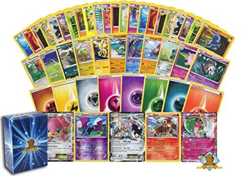 100 Pokemon Card Lot - 1 170 HP Or Higher Pokemon Ultra Rare Card (GX, EX, or V)! Rares - Energy - Foils! Includes Golden Groundhog Box!