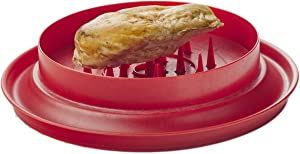 "Fusionbrands ShredMachine Better than Bear Claws Meat Shredder for Pulled Pork, Beef and Chicken, Dishwasher Safe, 10.5"" (red)"
