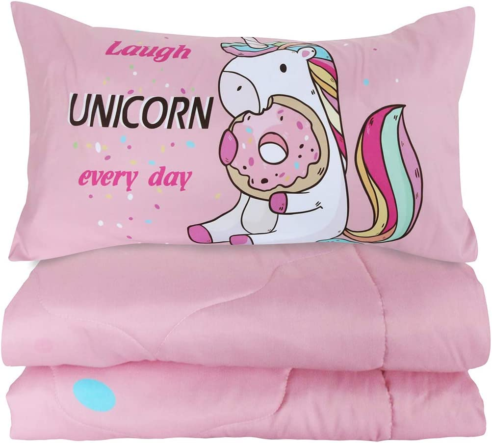Blue Turquoise BlessLiving 3 Piece Comforter Set with Pillow Shams 3D Printed Pink Glitter Bedding Set Girls Women Reversible Comforter Twin Size Bedding Sets Soft Comfortable Machine Washable