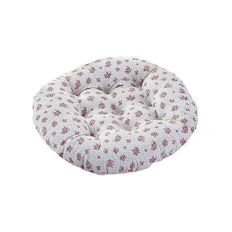 Cojines de asiento Cojín Circular de Algodón Blanco Espesar ...