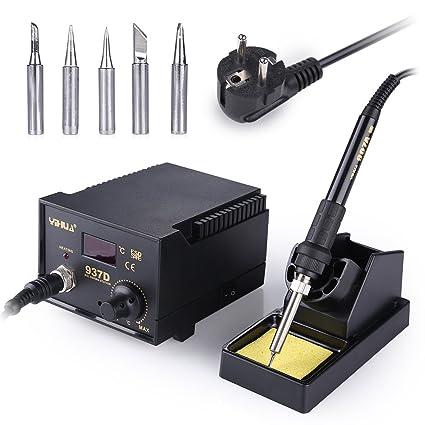 Estación de soldador estaño, Mbuynow 45W soldador electronica ESD Safe Herramienta de reparación de soldadura