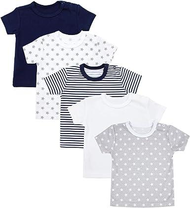 TupTam Camiseta Manga Corta para Bebé, Pack de 5: Amazon.es: Ropa y accesorios