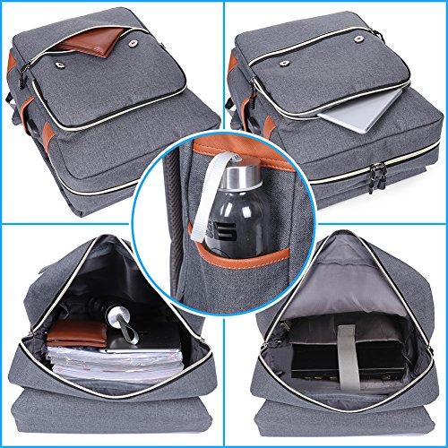 Modoker Vintage Laptop Backpack for Women Men,School College Backpack 3