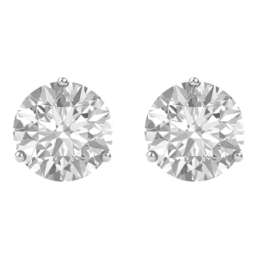 a14dca899 14ct White Gold Charles Colvard Moissanite Colorless 6mm 1.63 Dwt Polished  Moissanite Stud Earrings: Amazon.co.uk: Jewellery