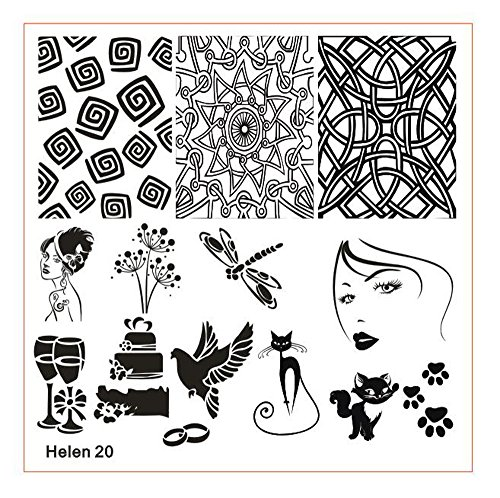 Orcbee  _DIY Nail Art Image Stamp Stamping Plates Manicure Template Nail Stamping Plates (G)