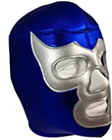 BLUE DEMON Adult Lucha Libre Wrestling Mask (pro-fit) Costume Wear - Blue