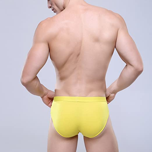 Zhhlinyuan Sexy Hombres Triangle Shorts Ropa interior Boxer Brief Underpants Respirable Modal,U Convex Design
