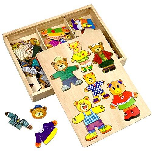 bear family dress up puzzle - 4