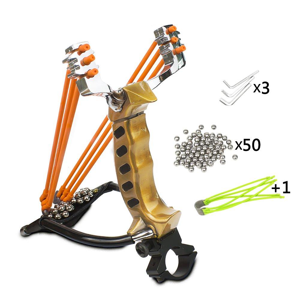 Elfirly Professional Wrist Rocket Slingshot Powerful Outdoor Hunting Sling Sh...