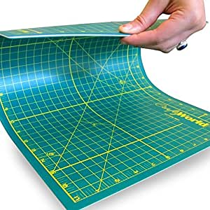 Pro Quality 12x18 Inch Self Healing Cutting Mat for Sewing, Quilting, or Any Other Crafts or Hobby - Professional Double Sided Cutting Mat Re-Seals After Every Cut - Strong, Durable and Long Lasting