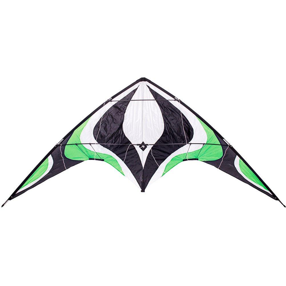 Babyeden 84 Green Sport Stunt Kite Dual-Line X-LARGE 7 FT WING SPAN Prism Delta Outdoor Flying by Babyeden by Babyeden