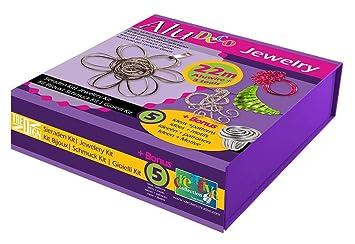 Vaessen Creative Alu Deco Aludraht Schmuck Kit Aluminium Purple