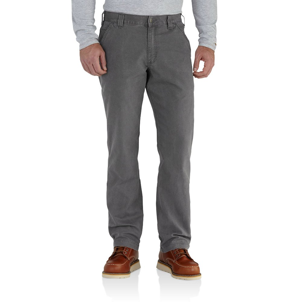 Carhartt Men's 102291 Rugged Flex Rigby Relaxed Fit Pant - 36W x 28L - Gravel