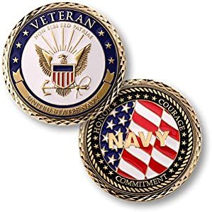 Northwest Territorial Mint U.S. Navy Veteran Challenge Coin