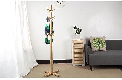 Soporte de madera maciza Dormitorio de piso Colgador de ropa Colgadores creativos Europeo Estilo Simple ropa