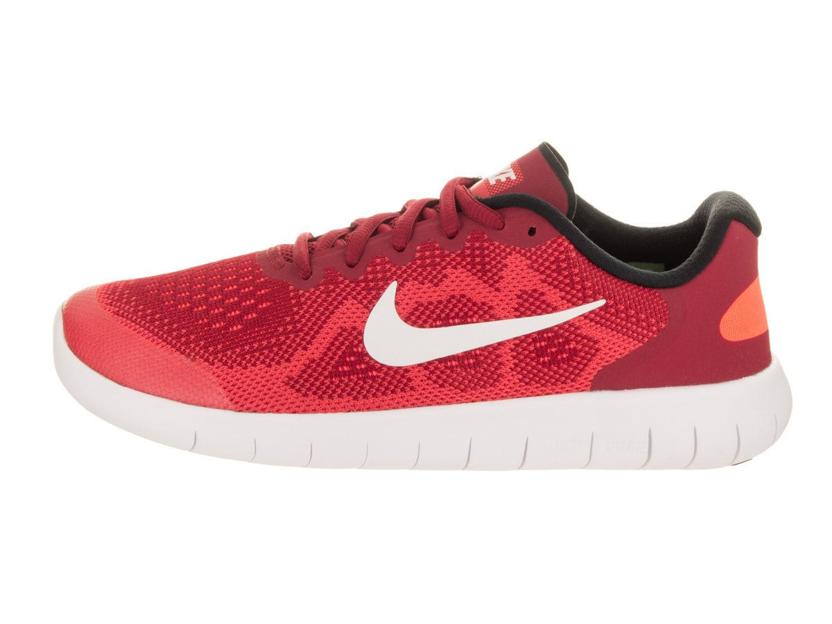 Nike Kids Free RN 2017 (GS) Gym Red/Off White Track Red Running Shoe 7 Kids US