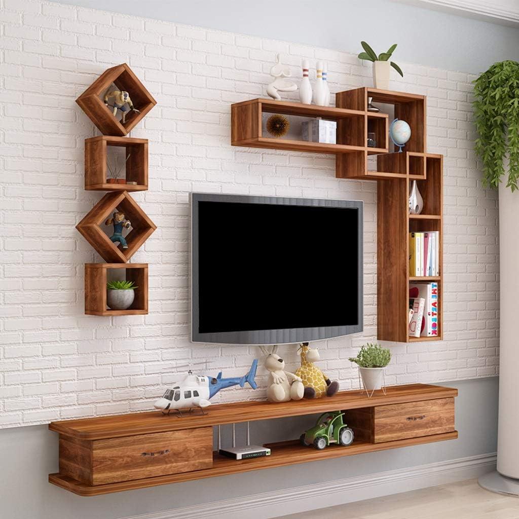 Mueble TV de pared dormitorio sala de estar Estante de la pared Estante flotante Mueble de pared colgante Consola multimedia Set top box enrutador foto juguete estante de almacenamiento: Amazon.es: Electrónica