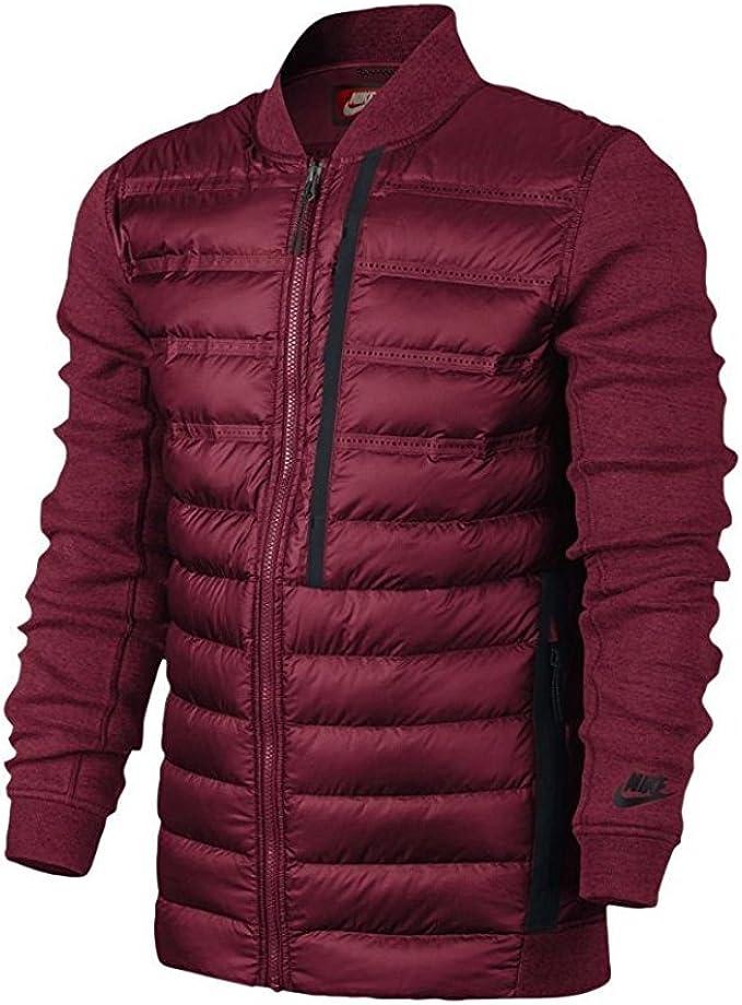 Nike Tech Fleece Aeroloft Bomber Men S Jacket S Team Red Team Red Black At Amazon Men S Clothing Store