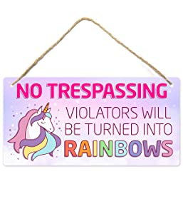 Unicorn Decor for Girls Room, Girls Room Decorations for Bedroom, 12″x6″ PVC Plastic Decoration Hanging Sign, High Precision Printing, Water Proof, Kids Room Decor for Girls, Room Decor for Girl