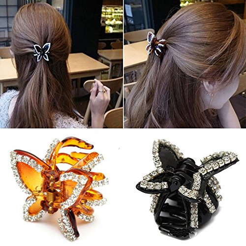 Polytree Womens Butterfly Rhinestone Hairpin product image